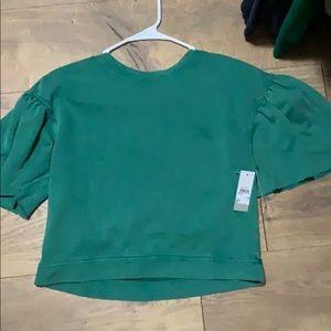BP Nordstrom ruffle short sleeve sweatshirt BNWT